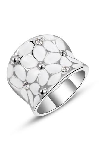 Roxi moda único de joyería anillo de dedo de alta calidad linda Zircon Rhinestone cristalino de oro chapado de la Mujer regalo de las muchachas.