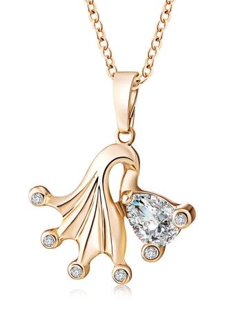 Moda de oro natural plateado collar de cadena colgante de cristal