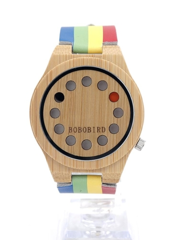 BOBOBIRD Simple Bamboo Watch Reloj de cuarzo unisex
