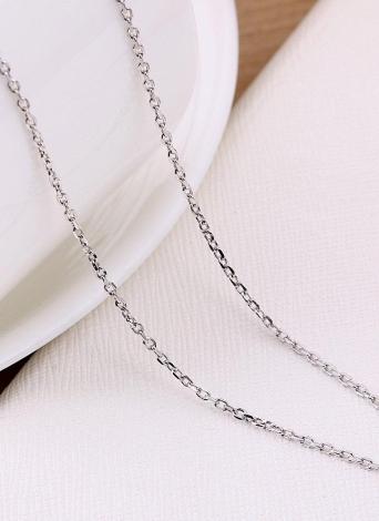 Romacci élégant en argent Sterling 925 Cross chaîne collier bijoux mode chaud accessoires cadeau pour femmes fille
