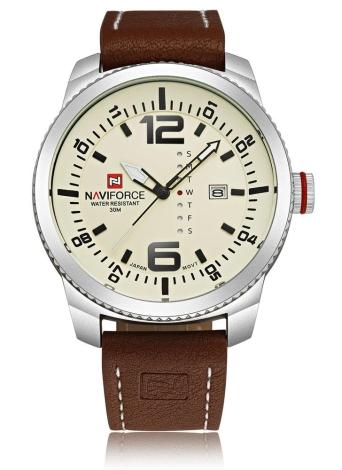 NAVIFORCE klassischen Luxus Analog Quarz 3ATM wasserdicht hochwertige komfortable PU Verbrauchsteile legerer Mann Armbanduhr mit Datum/Wochen-Anzeige