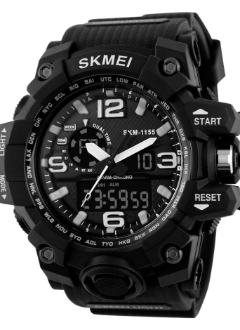 SKMEI Cool LED Wasserresistent Sport Herren Quarz Analog Digitaluhr