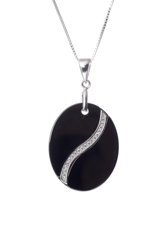 S925 Silver Nano Ceramic Zircon Round Pendent Necklace