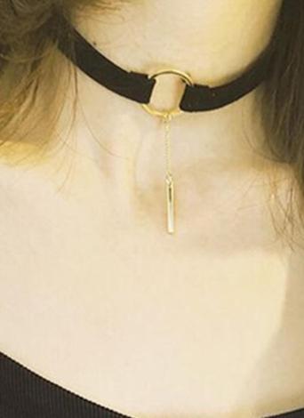 Colar de moda em couro Colar de gargantilha redonda