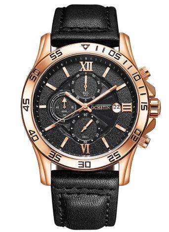 OCHSTIN de lujo superior de estilo militar luminosa hombres de cuarzo reloj auténtico