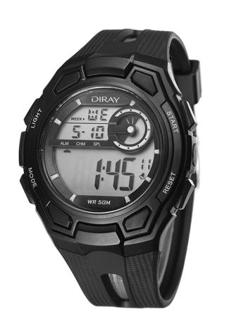 DIRAY 50M resistente al agua grande dial hombres digitales relojes