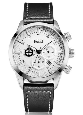 Bolisi Fashion Casual Quartz Watch 3ATM Relógios impermeáveis para homens