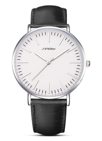 SINOBI Relógios de quartzo homens 3ATM Relógio de pulso resistente à água