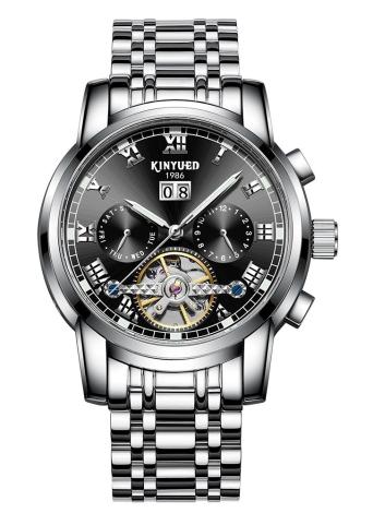 KINYUED Business Watch automatique mécanique 3ATM montre étanche