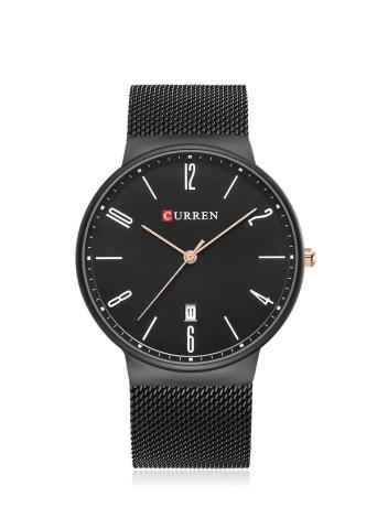 CURREN Fashion Mesh Stainless Steel Quartz Watch