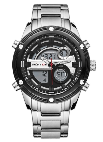 RISTOS Sport Quartz Digital Watch 3ATM wasserdicht Herren Uhren