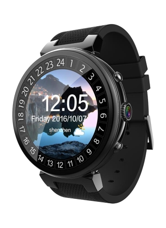 Android 5.1 3G Smart Watch Phone 1.3GHz Quad-core CPU 2G RAM & 16G FLASH Support Nano SIM Card 1.3inch TFT Touch Screen BT 4.0 GSM & WCDMA WiFi GPS Camera Pedometer Heart Rate Genuine Leather Smartwatch