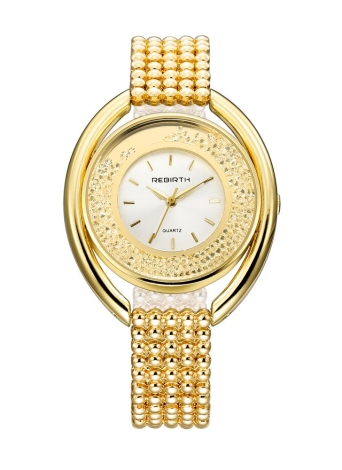 REBIRTH Women Pearl Strap Quartz Water Resistant Watch