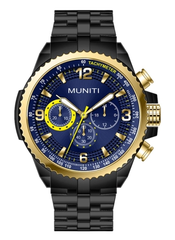 MUNITI Fashion Sport Men Watch Life Quartz Resistente à Água Relógio de pulso Luminous Man