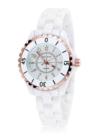 SKONE Gorgeous Elegant Quartz Water Resistant Ceramic Women Wristwatch