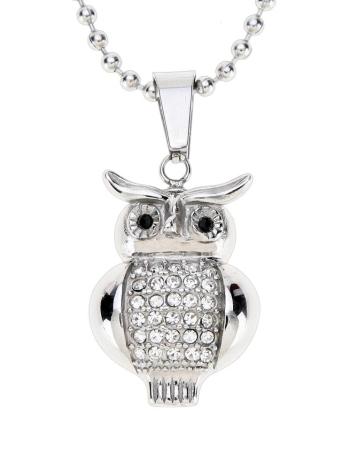 Сверкающих горный хрусталь сова Кулон воротник цепи ожерелье ювелирные изделия