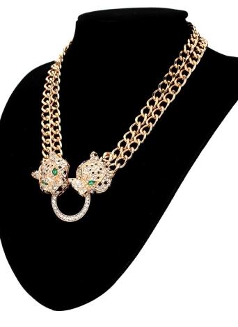 collier argent large avec pendentif vrillant