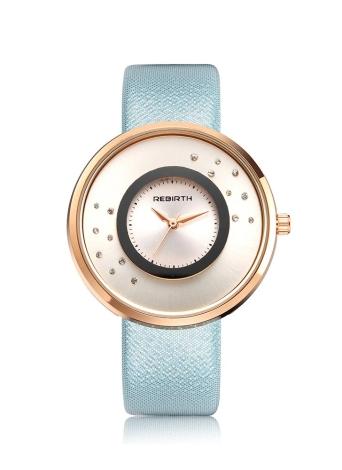 REBIRTH Marke Luxus Diamond Quarz PU Leder Damen Uhren