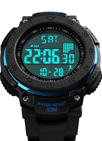 SKMEI Unisex Digital Sports Pedometer Despertador Relógio Relógios de pulso