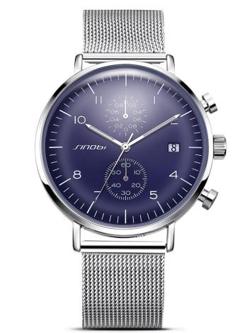 SINOBI Reloj deportivo 3ATM Resistente al agua Reloj de cuarzo Hombre Reloj Relogio Musculino Calendario Cronógrafo