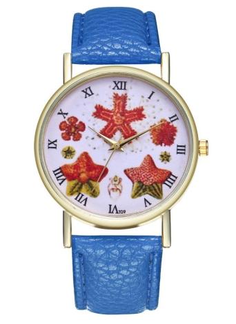 Vintage Starfish Illustration Classic Style Ladies Reloj de caballero para él Su regalo Ideas Accesorios de modaT09