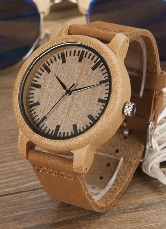 BOBOBIRD Fashion Simple Bamboo Lovers Watch