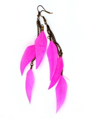 Pena longa cadeia Bronze luz gota Dangle candelabro brinco brinco jóias acessório de moda para mulheres menina