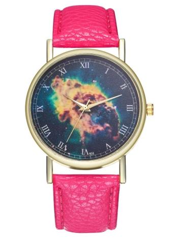 Nebula Watch Galaxy Milky Way Reloj de cuero para mujeres Reloj de hombre Ideas de regalos de boda de cumpleaños T02