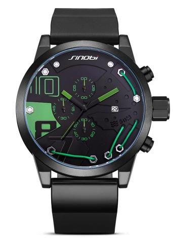 Montre sport SINOBI Sport Watch 3ATM étanche à quartz Montres Montres-bracelets