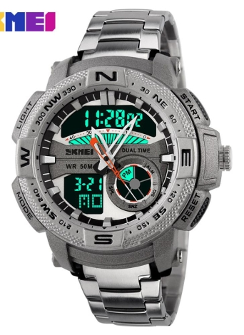 SKMEI Analog-Digital LED Display Sports multifonction homme montre-bracelet