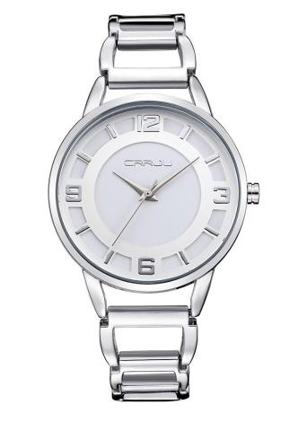 CRRJU elegante 3 ATM Resistente de agua diario de las mujeres del reloj de manera analógica simple elegante reloj de pulsera de señora para el cónyuge Amigos