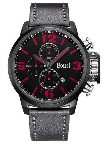 Bolisi Fashion Casual Quartz Watch 3ATM Water-resistant Men Watch
