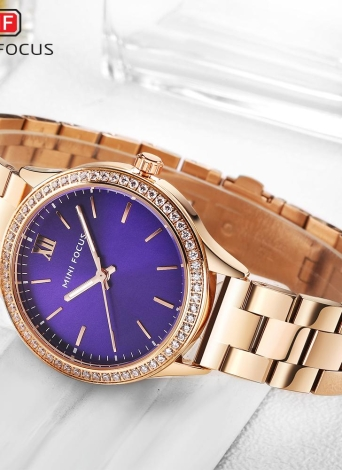 Reloj MINI FOCUS Fashion Luxury de acero inoxidable para mujer