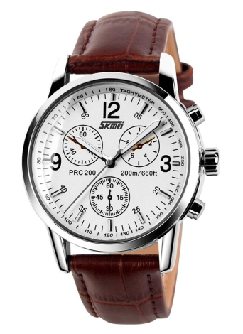 SKMEI qualité supérieure hommes résistant à l'eau Business montre-bracelet montre à Quartz analogique classique avec sous-cadran décoratif
