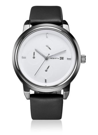 REBIRTH marca moda PU cuero cuarzo deportes fresco relojes de señora