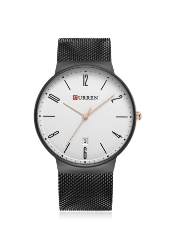 Reloj de cuarzo de acero inoxidable CURREN Fashion Mesh