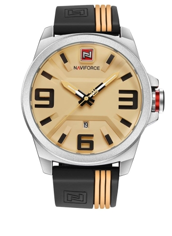 NAVIFORCE Fashion Silicone Strap Sports Quartz imperméable à l'eau Montre Homme