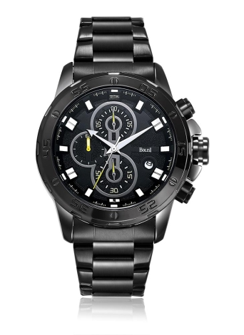 Bolisi Business Watch 3ATM Montre à quartz imperméable à l'eau Montre-bracelet homme