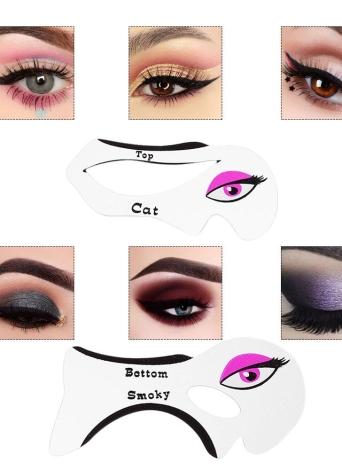 2pcs/pack Eyeliner Smoky Eye Shadow Cards Stencils Models