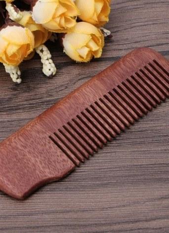 Peine de madera portátil antiestático natural Amoora madera peine del pelo dientes grandes masaje madera cuidado de la salud cepillo para el cabello