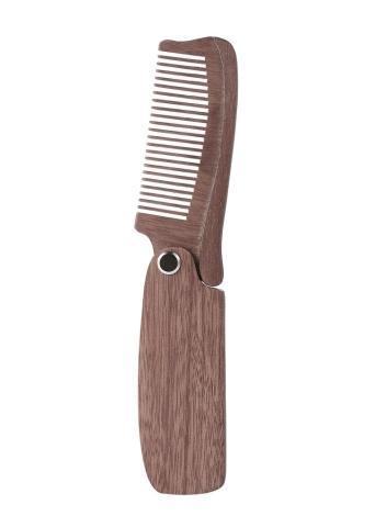 1pc Peigne à la barbe pliable Taille de la poche Poil à peigne anti-statique en mousse pour hommes et femmes