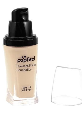 Popfeel BB Cream Liquid Finish Fundação Concealer Sunscreen Base Primer Face Maquiagem Flawless Natural Light
