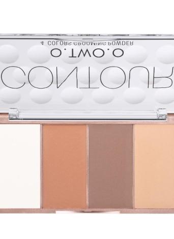 O.TWO.O Corrector de Contorno de 4 Cores Kit de palete de creme Base de Base Base Base de Maquiagem Conjunto de paleta de creme