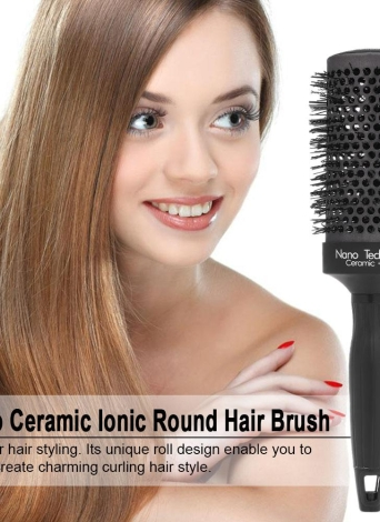 Nano Ceramic Ionic Round Hair Brush Salon Curling Combs Hair Roller Styling Round Combs High Temperature Resistant Massage Brush