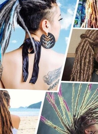 1 Pack 10 PCS Graduel Changement Dreadlocks à la Main Extensions Mode Reggae Crochet Hip-Hop Dreads Synthétiques Crochet Tressage Cheveux 2 # 1