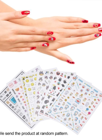 1pcs Nail Manicure Stickers Mixed Patterns French Nail Hollow Grid Stencil Stamping Template Nail Art Tools