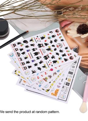 1pcs Nail Manicure Stickers Modelli misti French Nail Hollow Grid Stencil Stamping Template Strumenti di arte del chiodo