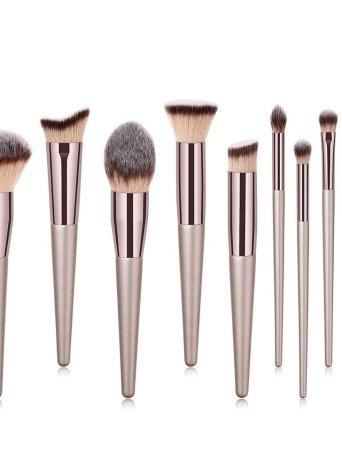Profesional 10 Unids Conjunto de Cepillo de Maquillaje Polvo Fundación Cepillo Ceja Sombra de Ojos Maquillaje Cosmético Herramientas Kit de Aseo para Mujeres Chica