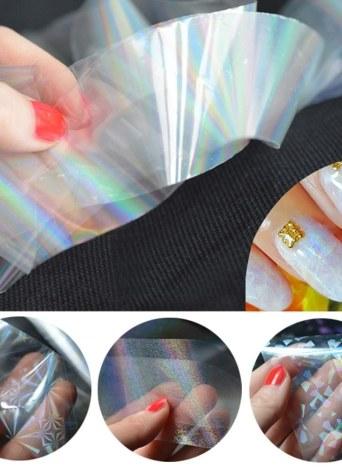 Professionnel Nail Feuilles Starry Sky Nail Glitter Films Nail Art Transfert Feuille Autocollant Papier Nail Wraps DIY Manucure Feuille Accessoires