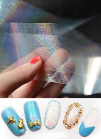 Professional Nail Foils Starry Sky Nail Glitter Foils Nail Art Transfer Foil Sticker Paper Nail Wraps DIY Manicure Foil Accessories